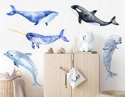 Wandtattoo Aquarell der Wale