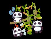 Lieferansicht Wandtattoo Panda Ming