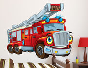 Wandtattoo Feuerwehr Happy Brandy