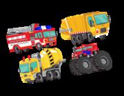 Lieferansicht Wandtattoo Crazy Trucks