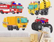 Wandtattoo Crazy Trucks