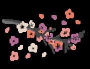 Lieferansicht Wandtattoo Kirschblütenzweig Nippon