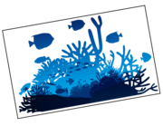 Lieferansicht Wandtattoo Blaue Lagune