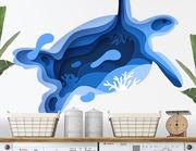 Wandtattoo Blue Turtle Paper-Art