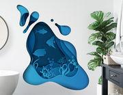 Wandtattoo Paper-Art Ocean