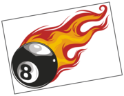 Lieferansicht Wandtattoo Burning Eightball