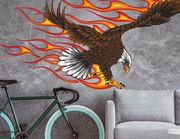Wandtattoo Burning Bald Eagle