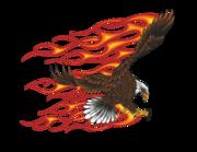 Lieferansicht Wandtattoo Burning Bald Eagle