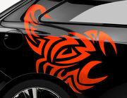 Autoaufkleber Tribal Skorpion-Set