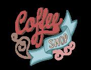 Lieferansicht Wandtattoo Coffee Shop Lettering
