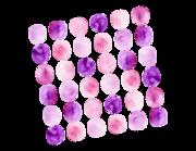 Lieferansicht Wandtattoo Pretty Purple Dots