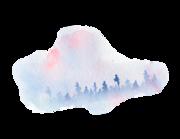 Lieferansicht Wandtattoo Purple Pine-Tree Forest