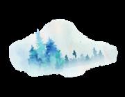 Lieferansicht Wandtattoo Blue Pine-Tree Forest