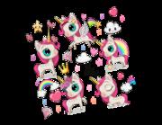 Lieferansicht Wandtattoo My Little Unicorn Ponys
