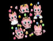Lieferansicht Wandtattoo Einhorn-Kätzchen Pinky Paw