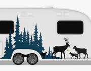 Autoaufkleber Wald der Hirsche