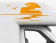 Autoaufkleber Golden Sun-Set