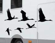 Autoaufkleber Flug der Zugvögel-Set