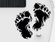 Autoaufkleber Bigfoot Footprints