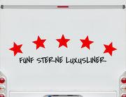 Autoaufkleber 5 Sterne Luxusliner