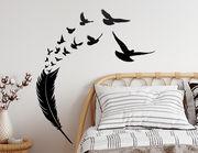 Wandtattoo Feather of Birds