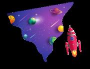 Lieferansicht Wandtattoo Space Man's Galaxy
