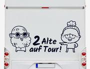 Autoaufkleber 2 Alte auf Tour!