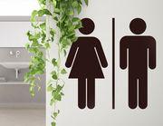 Wandtattoo WC Mann & Frau