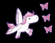 Wandtattoo Pegasus Pink Penny Lieferansicht