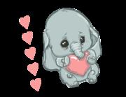 Wandtattoo Babyelefant Emmi Lieferansicht