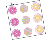 Wandtattoo Blütenmix Flower Power Lieferansicht