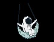 Wandtattoo Astronaut Arthur's Mondschaukel Lieferansicht