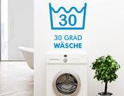 """Wandtattoo """"30 Grad"""" für die Waschküche"""