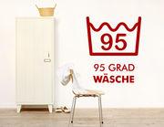 """Wandtattoo """"95 Grad"""" für die Waschküche"""
