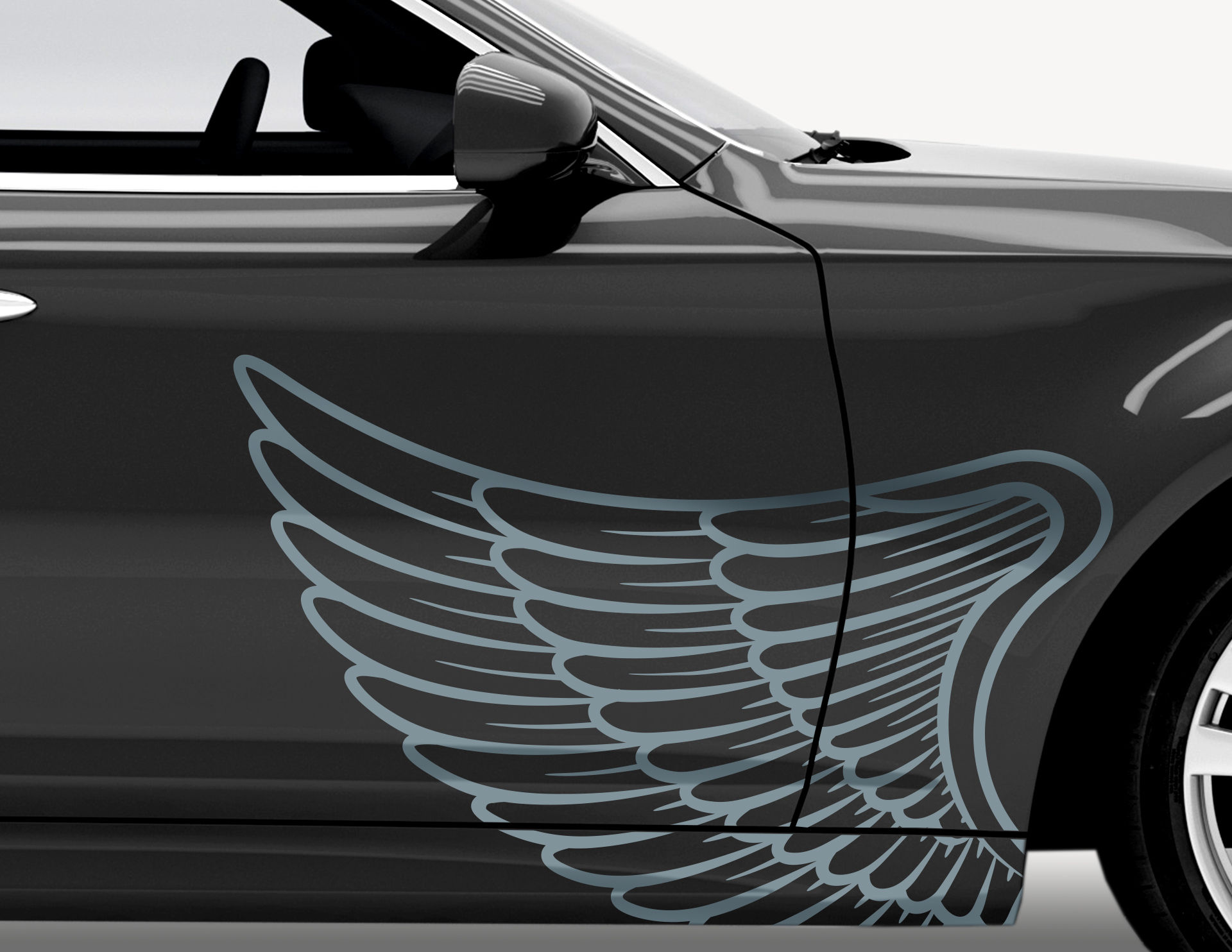 Autoaufkleber Angel Wings-Set