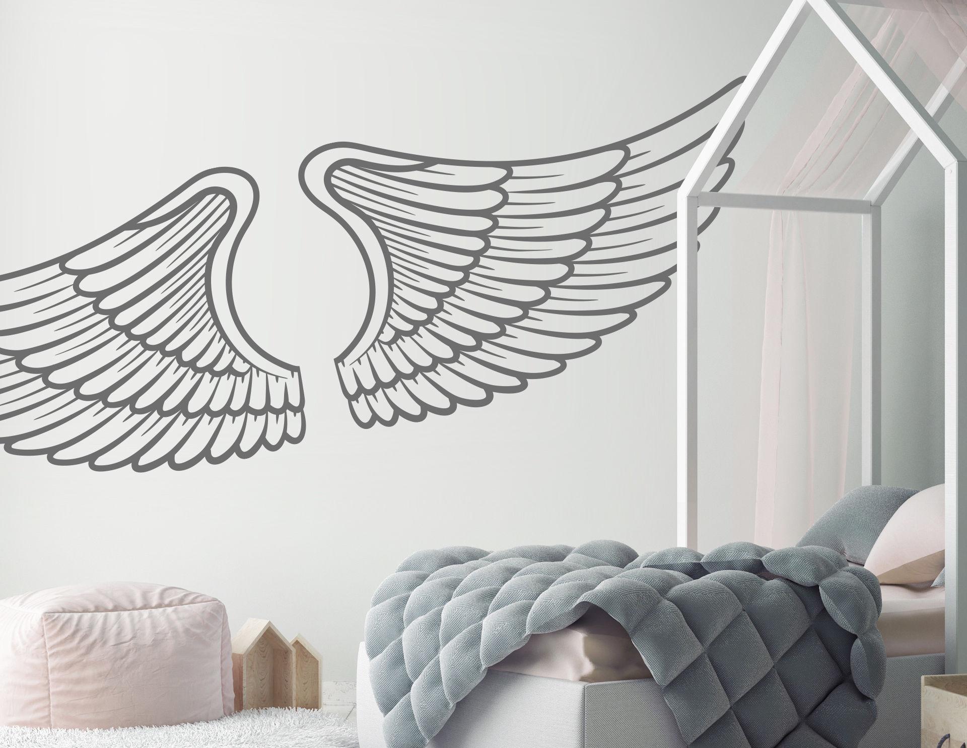 Wandtattoo Angel Wings