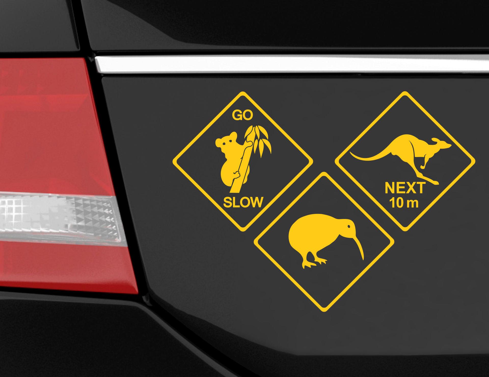 Autoaufkleber Aussie Street Signs