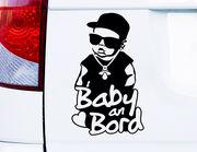 """Autoaufkleber """"Cool Baby an Bord"""" für Eltern mit Humor"""