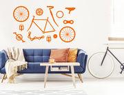 """Wandtattoo """"DeMount Bike"""" für echte Fahrradschrauber"""