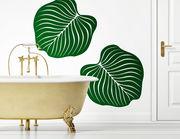 """Wandtattoo """"Green Flora"""" fürs Badezimmer"""