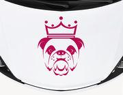 Autoaufkleber Bulldogge Churchill: Königlich & very British!