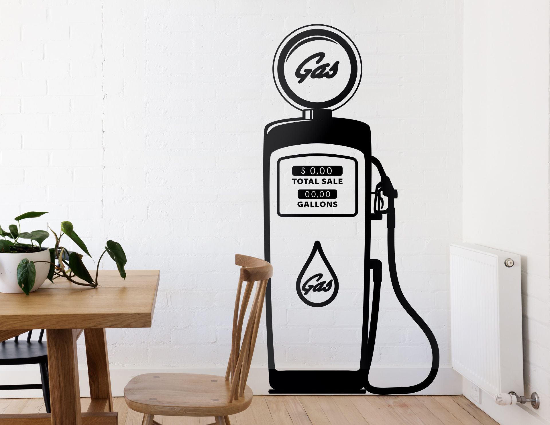 Wandtattoo Classic Gas Station