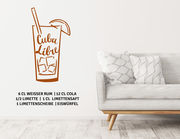 """Wandtattoo """"Cocktail Cuba Libre"""" steht für Freiheit und Spaß"""