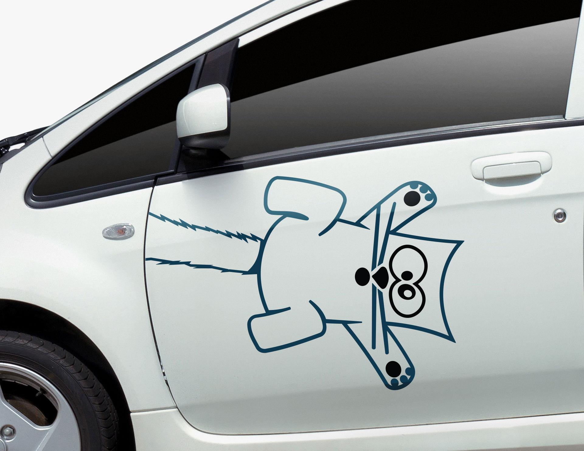 Autoaufkleber Crazy-Cat-Clip-Set