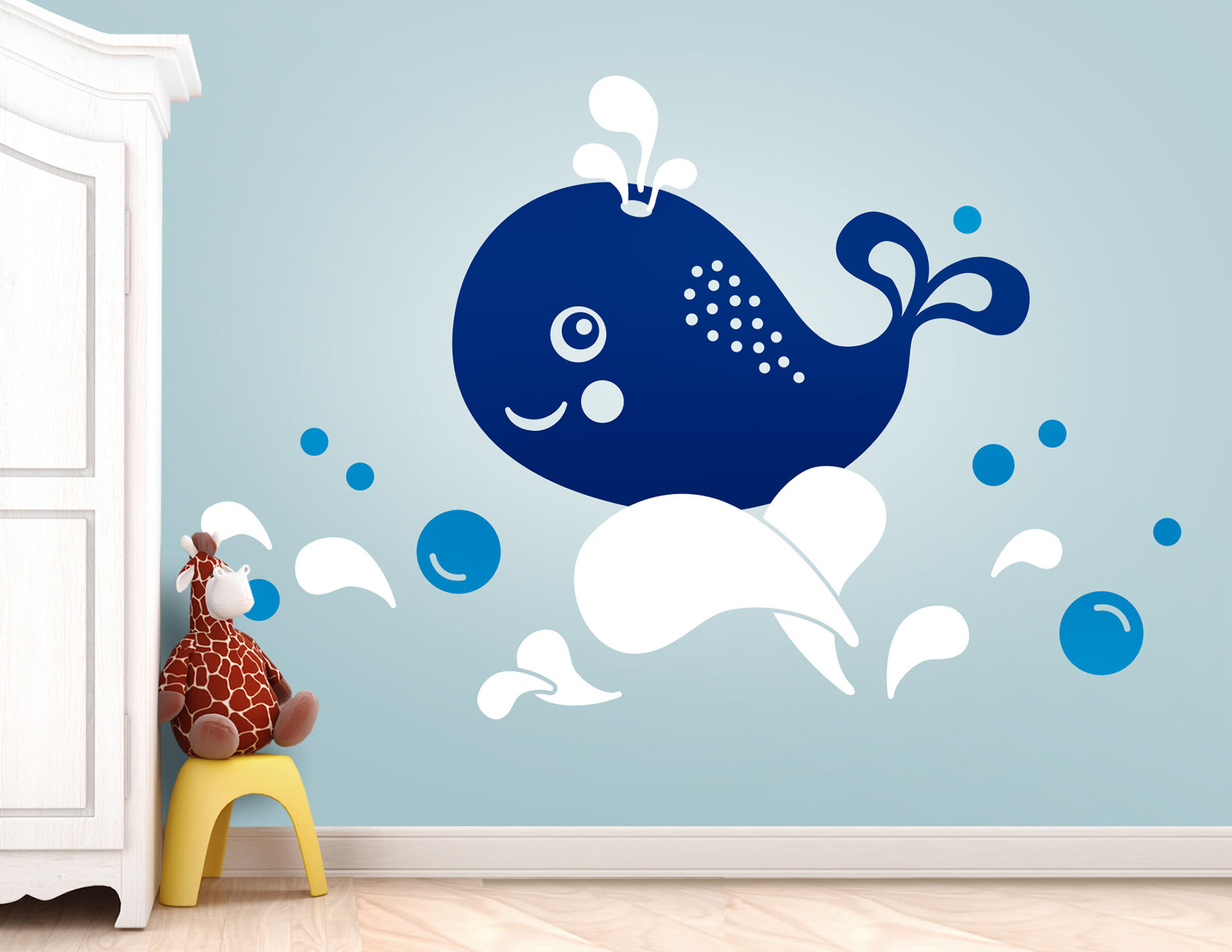 Wandtattoo Der kleine Wal