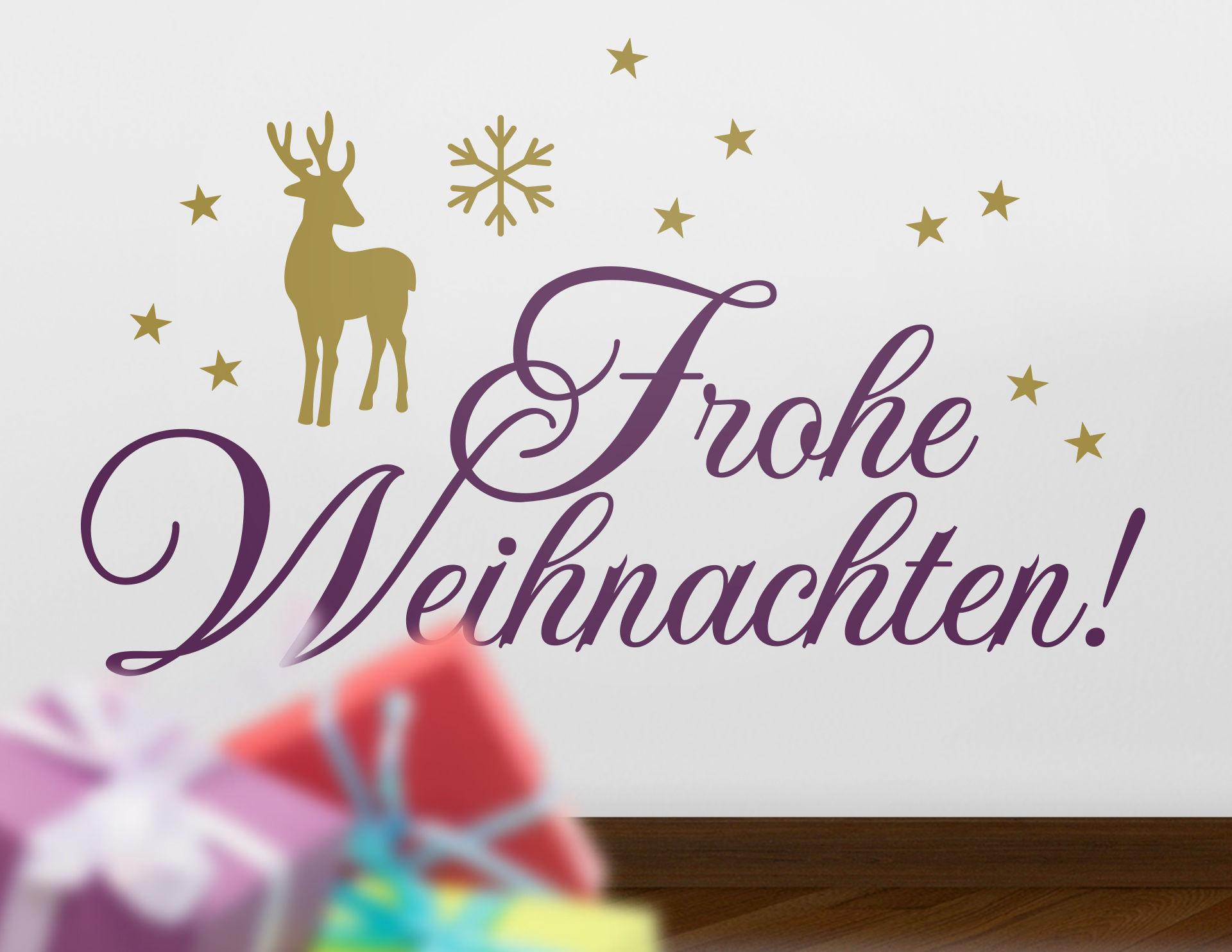 Wandtattoo Frohe Weihnachten #02