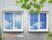 Sonnenschutzfolie mittlere Spiegelung als Rollenware - Sicht von Außen