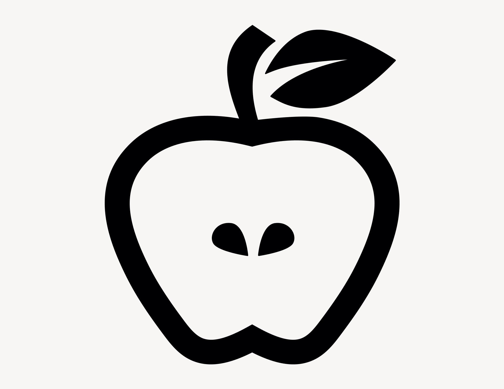 Apfel - Aufkleber für Gewerbe