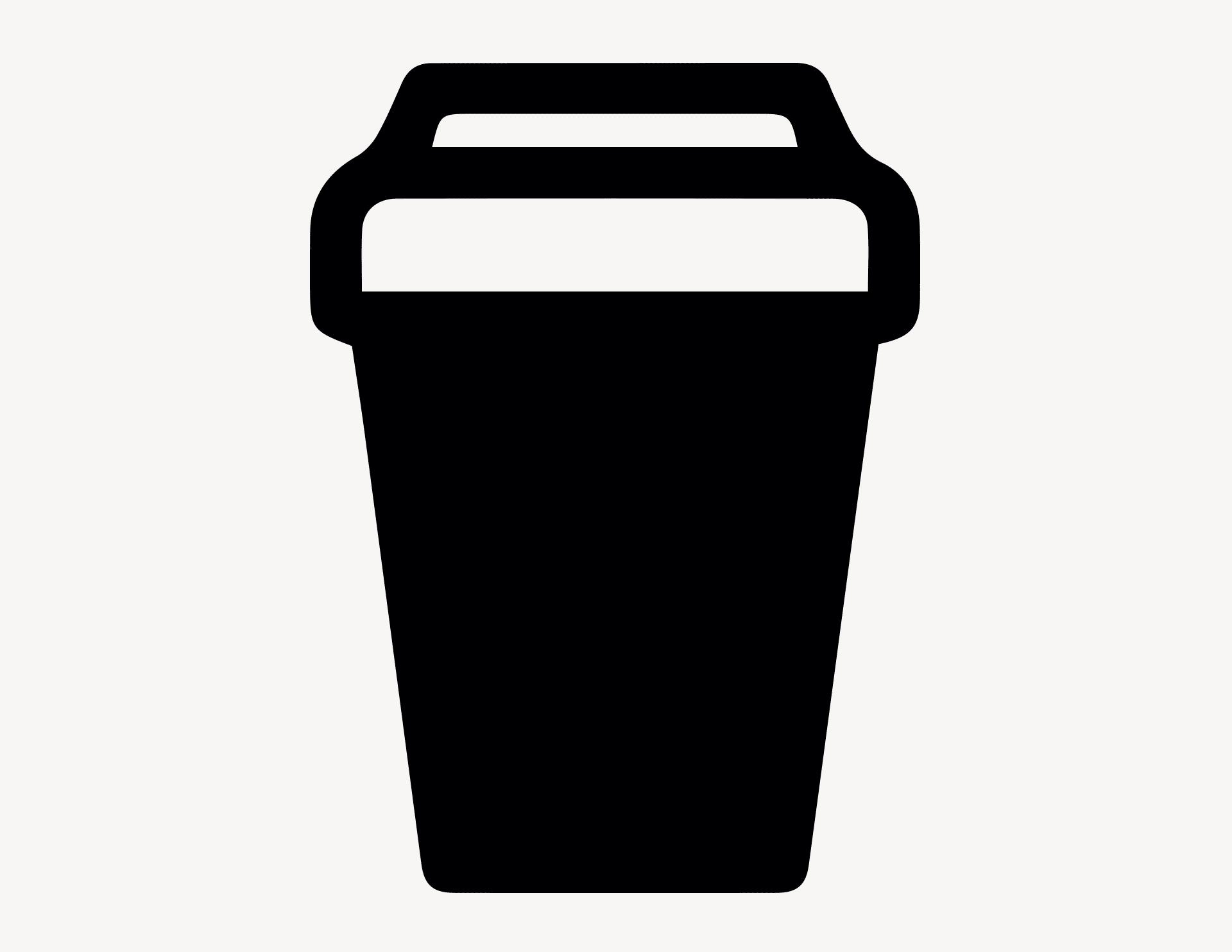Coffee to go - Aufkleber für Gewerbe