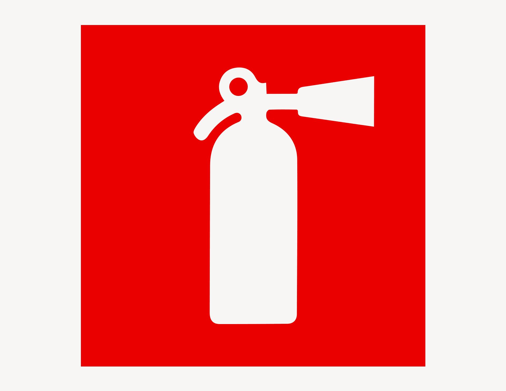 Feuerlöscher #2 - Aufkleber für Gewerbe